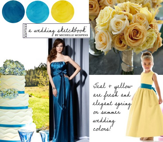 yellow together! Perfect for a spring or summer wedding!! Fresh, fun