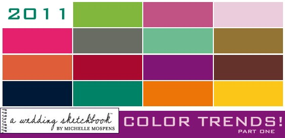 Color Trends Stunning Not Just I Do Wedding Inspiration And Ideas 2011 Wedding Color Decorating Design