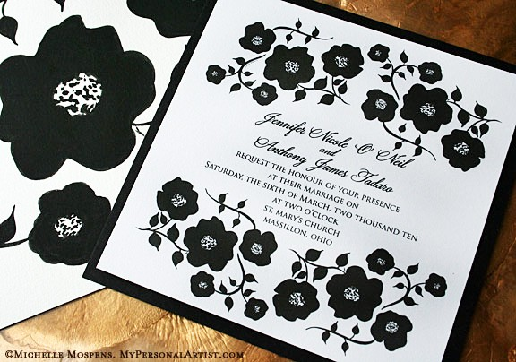 Lavender Papaya Black and White Wedding Colors