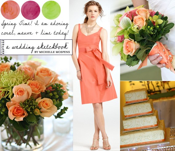 Perfect for Your Spring Wedding :: Coral, Mauve + Lime Green | Super ...