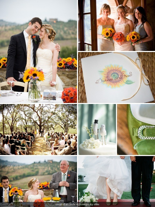 I love an outdoor wedding Sunflowers just add the perfect cheerful touch