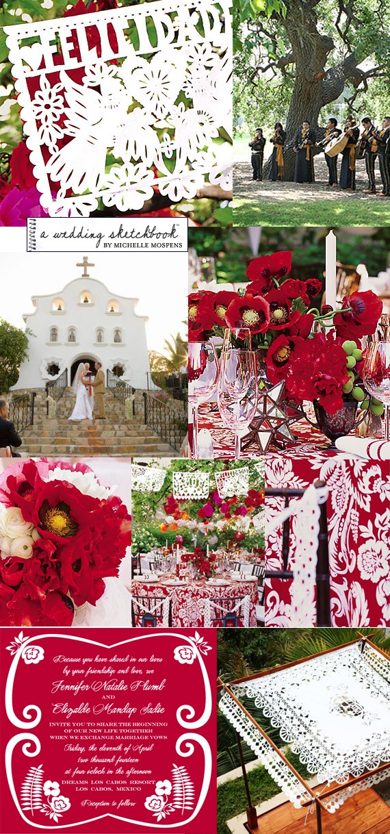 themed wedding inspiration board for YOU If I were to marry in Mexico