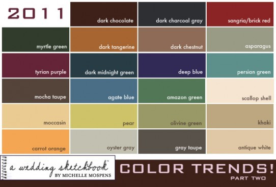 2011 Wedding Color Trends If you found me Michelle Mospens