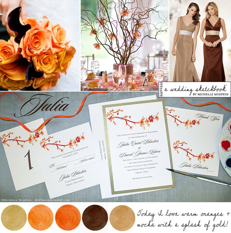 Fall Wedding Ideas Not only do I love this warm and elegant palette of