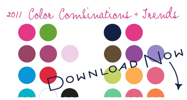 Feel free to download the 2011 COLOR COMBINATIONS TRENDS pdf file and