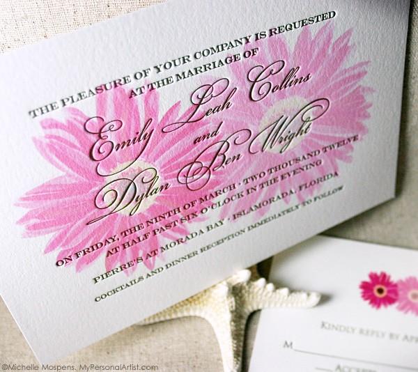Truly Unique Letterpress Wedding Invitations