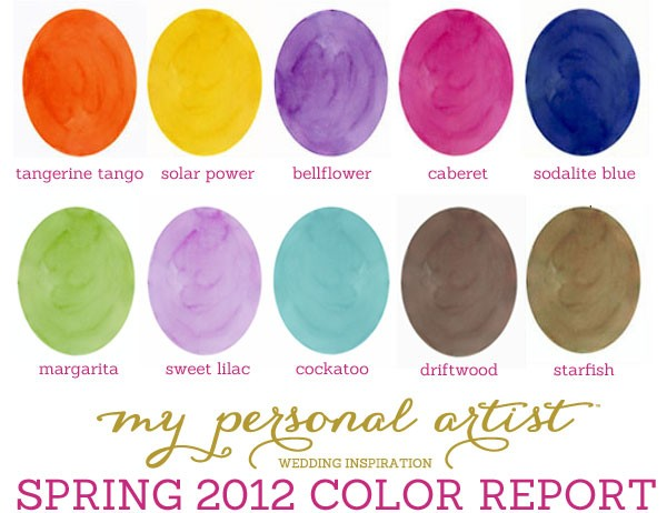 Pantone recently announced their 2012 color report for Spring