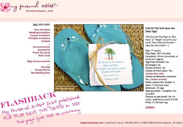 eb48509f71cfc Flip Flop Beach Wedding Save the Dates
