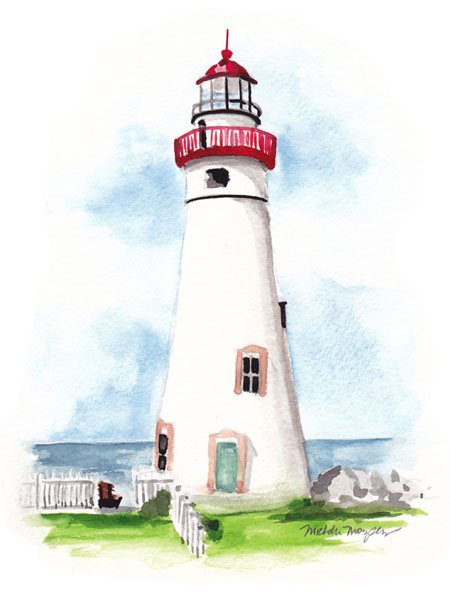 Hand painted lighthouse bottle invitation design mospens for Lighthouse home designs