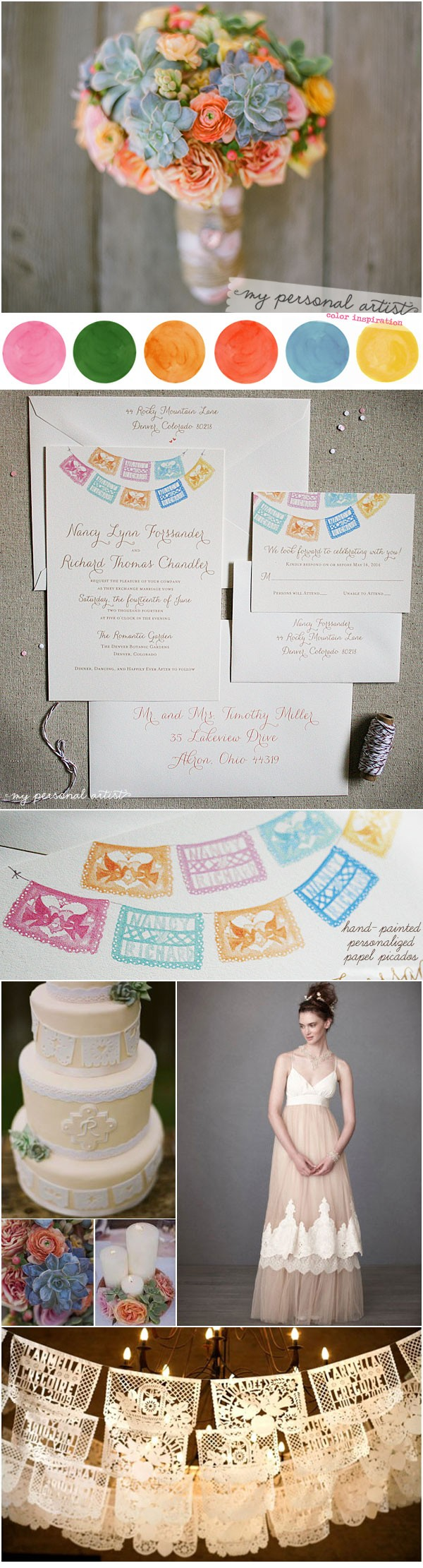 Mexican Folk Art Papel Picados Wedding Ideas