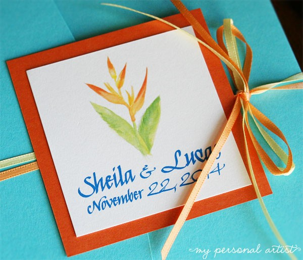 tropical wedding invitations archives  mospens studio, Wedding invitations